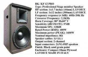 loa BK-KF12 PR (ÂM THANH CHẤT LƯỢNG)