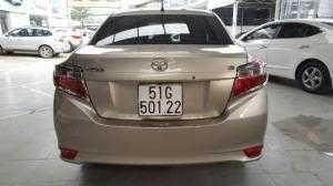 Bán Toyota VIOS E 1.5MT màu vàng cát số sàn sản xuất 2017 biển Sài Gòn lăn bánh 23000km
