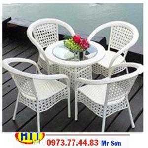 Bàn ghế cafe nhựa giả mây giá rẻ tại tphcm-0110