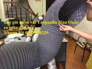 Ống Gió Mềm Vải Tarpulin D150  - Ống Gió Mềm Vải Tarpulin 1 Lớp Bảo Ôn