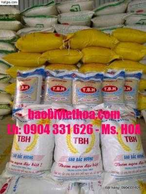 bao bì pp dệt, bao bì gạo xuất khẩu 10kg, 25kg