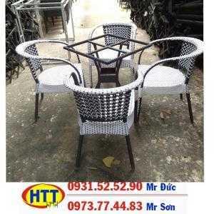 Bàn ghế nhựa giả mây sân vườn giá rẻ tại hcm-101