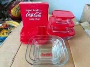 Bộ 3 thố coca cola thuỷ tinh