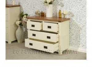 Tủ ngăn kéo gỗ sồi gấp xếp đồ