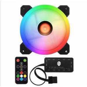 Bộ Fan case LED 12cm RGB kèm Hub 10 cổng điều khiển Quạt tản nhiệt có Remote