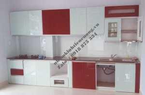 Tủ Bếp Nhôm Kính Sơn Tĩnh Điện Treo Tường Cao Cấp Đẹp Giá Rẻ Tphcm