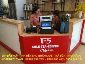 Bán máy tính tiền cảm ứng 3 màn hình cho Quán Trà Sữa tại Hà Nội