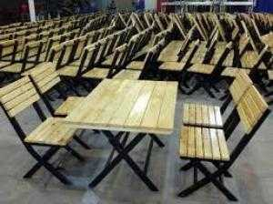 Bàn ghế gỗ quán nhạu giá rẻ tại xưởng sản xuất