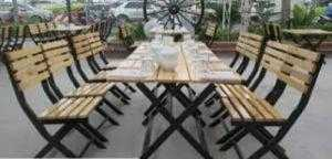 Bàn ghế gỗ cafe quán nhậu giá rẻ tại xưởng sản xuất