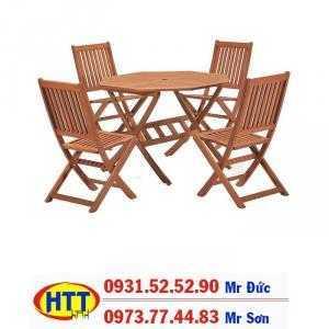Bàn ghế cafe gỗ giá tại xưởng HTT121