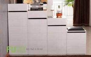 TỦ GIẦY FN 266 - MDF nhập khẩu malaysia sơn trắng bóng 2k