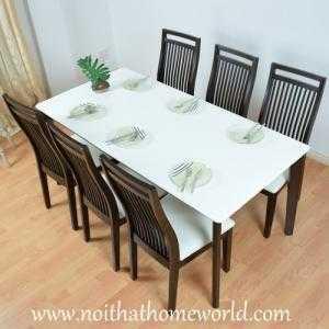 Bộ bàn ăn 6 ghế HW331-6C-Hàng xuất Nhật- Nội thất Homeworld