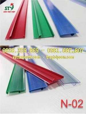 Nẹp nhựa hiển thị bảng giá, nẹp nhựa siêu thị, nẹp nhựa cài giá