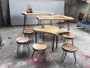 Mặt ghế gỗ me tây