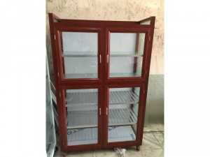 Tủ nhôm cao cấp khung nhôm hộp màu gổ
