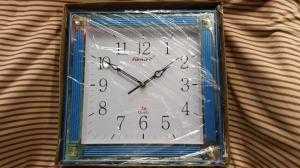 Đồng hồ treo tường Forward Vuông, màu xanh dương