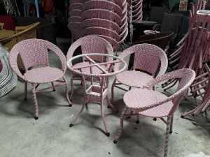 Bộ bàn ghế mây ghj345 cafe giá rẻ