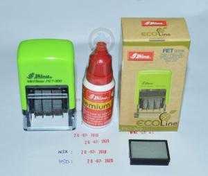 Con dấu ngày tháng năm_Mực chuyên dụng đóng lên mọi chất liệu_hàng nhập khẩu hiệu SHINY