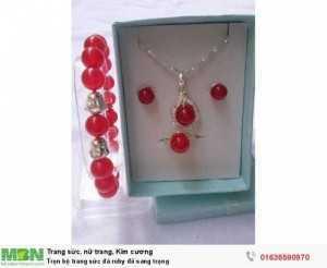 Trọn bộ  trang sức đá ruby đỏ  sang trọng