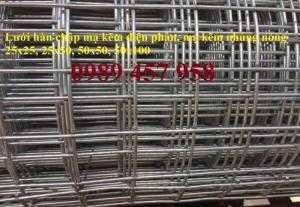 Cung cấp lưới hàn chập mạ kẽm và mạ nhúng nóng dây 1ly, 2ly, 3ly cho các đại lý