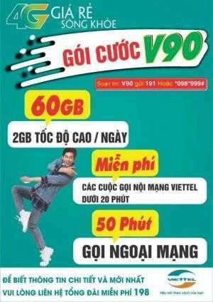 Sim 4G Viettel có 60GB/tháng