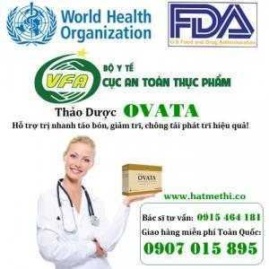 Thảo dược OVATA trị nhanh táo bón, giảm trĩ và ruột kích thích