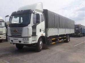 Báo giá xe tải Faw 7t8 thùng mụi bạt dài 9,75m, hỗ trợ trả góp 80% giá trị xe.