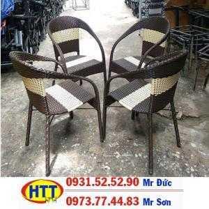 Bàn ghế cafe nhựa giả mây Hoàng Trung Tín-77