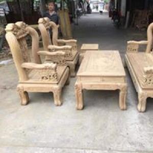 Bộ bàn ghế voi ma mút gỗ cẩm vàng