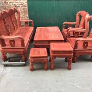 Bộ bàn ghế minh quốc triện gỗ hương nam phi