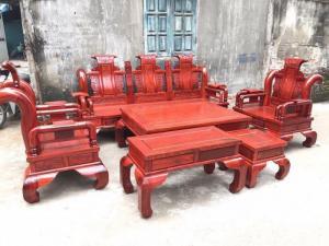 Bộ bàn ghế tần thủy hoàng gỗ hương nam phi