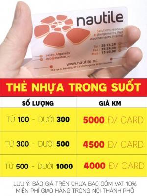 Thẻ nhựa siêu rẻ nhất tphcm