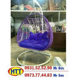 Xích đu nhựa giả mây giá tốt tại hcm HTT55