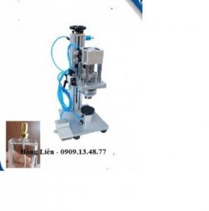 Máy đóng nước hoa bán tự động dùng khí nén/ Máy viền nắp chai nước hoa, dầu thơm