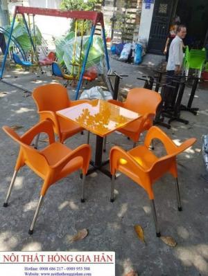 Ghế nhựa cafe sân vườn giá rẻ hghv16