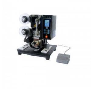 Máy in date trên vỏ hộp giấy bán tự động HP23, máy in hạn sử dụng trên tem nhãn giấy decan