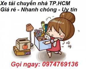 Xe tải chuyển nhà, phòng trọ giá rẻ quận Tân Phú, Bình Tân