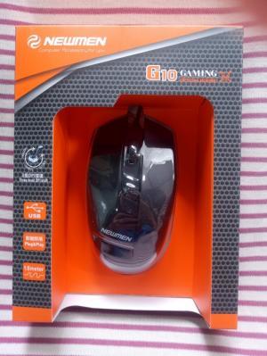 Chuột quang có dây Newmen G10 | chuột game có đèn LED | Màu Đen