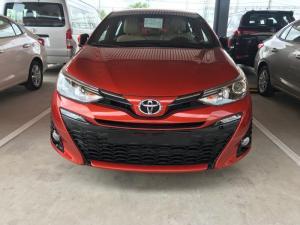 Khuyến Mãi Toyota Yaris 1.5 2018 màu cam nhập khẩu Mua Trả Góp chỉ cần 200Tr. Xe Giao Ngay