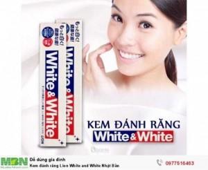 Kem đánh răng Lion White and White Nhật Bản