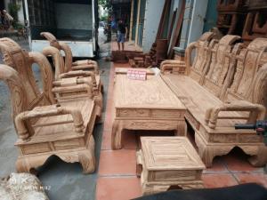 Bộ Bàn Ghế Giả Cổ Tần Thủy Hoàng  gỗ mun nam phi tay 12
