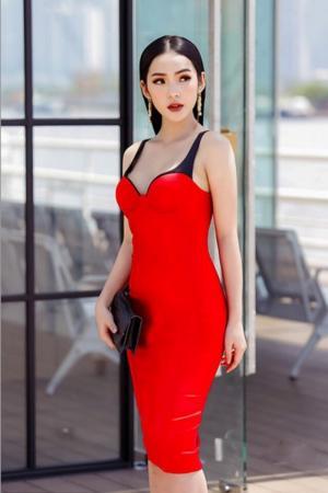 Đầm đỏ dự tiệc 2 dây gợi cảm