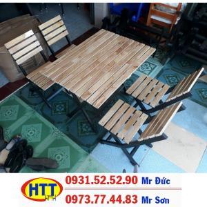 Bàn ghế sắt gỗ giá rẻ tại hcm
