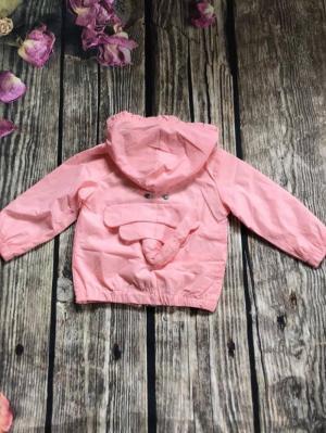 Áo khoác bé gái màu hồng nhạt 10kg-18kg