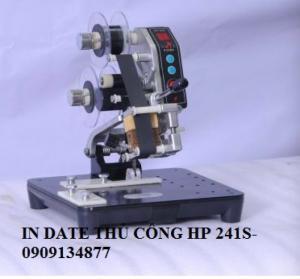 Máy in date trên bao bì tem nhãn thủ công loại mới HP-241S/ máy in date trên nhãn decan, hộp giấy