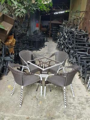 Bàn ghế nhựa giả mây Việt  Đức -120