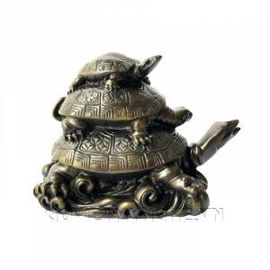 Tượng Đá Trang Trí Rùa Phong Thủy - Đá Màu