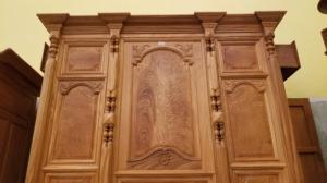 Tủ thờ trơn bụng phẳng gỗ gõ đỏ1,53m