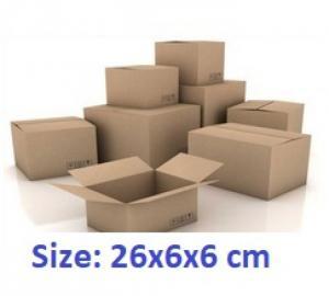 Thùng Carton 26x6x6cm 50 cái