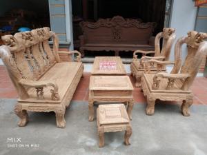 Bộ Bàn Ghế Minh Đào Gỗ Mun nam phi